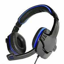 Headset Gamer K-Mex AR-S501 Stereo C/microfone Preto/led Azul.