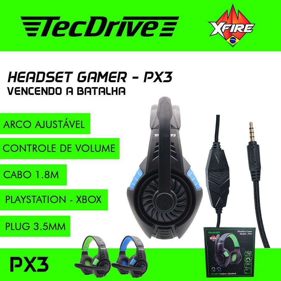 Headset Gamer XP PX3 X-CELL (Compatível PS4 / XBOX)
