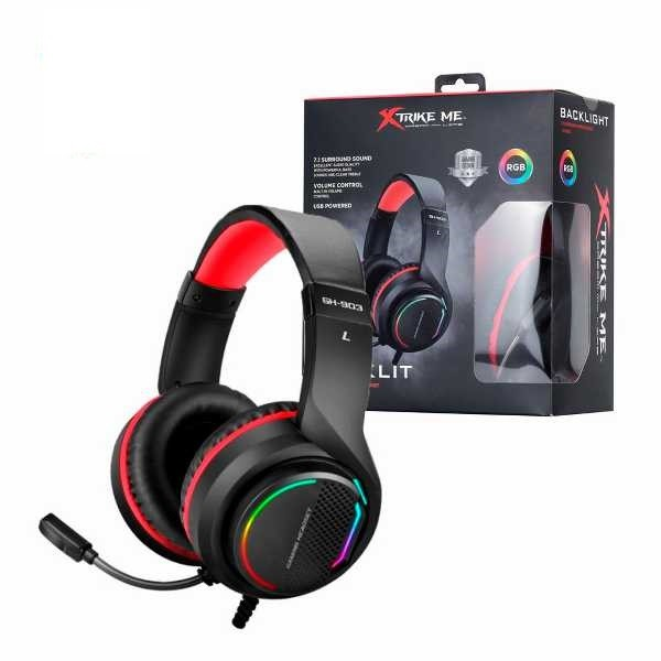Headset Gamer Xtrike GH-903 USB Digital Surround 7.1 C/mic (Efeitos Led)