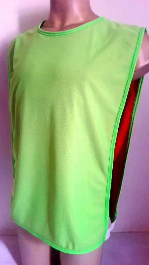 Jogo com 5 Colete Dupla Face Vermelho/Verde Futebol Kit Treino