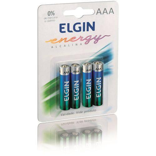 Kit 10 Blister C/4 Un. Pilha Alcalina AAA 1.5v LR03 Elgin