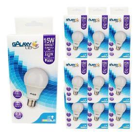 Kit 10 Lampada Led 15w Bulbo E27 BiVolt Galaxy Led Branca 1300LM - Inmetro
