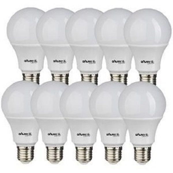 Kit 10 Lampadas Led 14w Bulbo E27 BiVolt Galaxy Led Amarela 1521LM - Inmetro