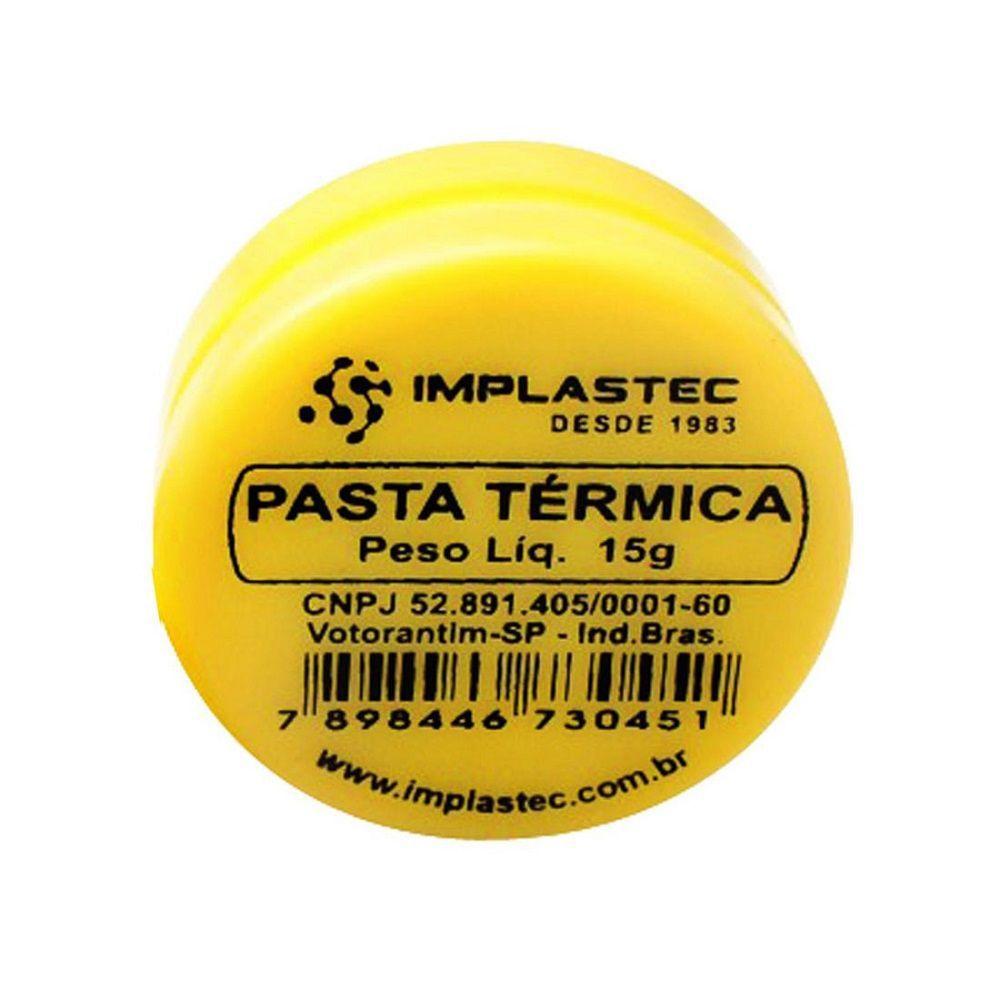 Kit 10 Pasta Térmica Branca Pote 15g Implastec