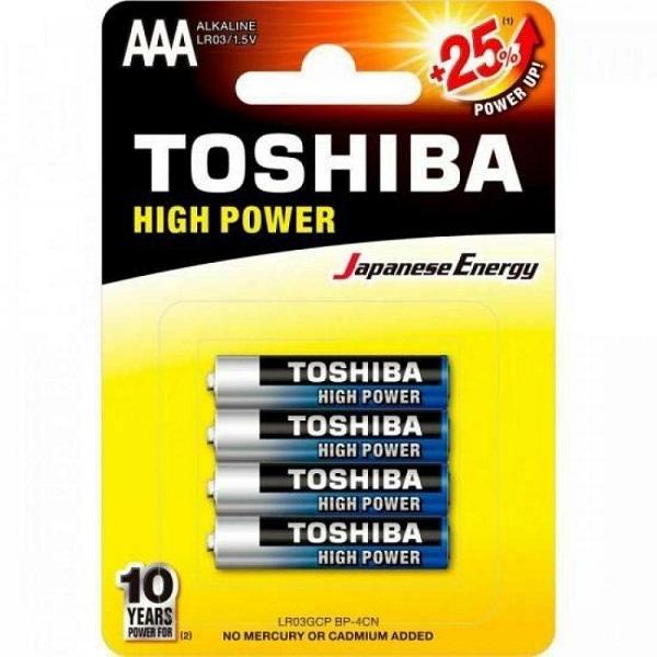 Kit 12 Blister C/4 Un. Pilha Alcalina AAA 1.5v LR03 Toshiba