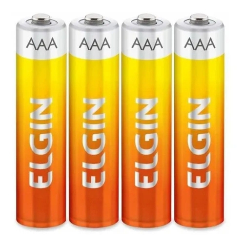 kIT 2 Pilha Aaa Palito Zinco Energy 1,5v Tubo C/ 40 Pilhas Elgin