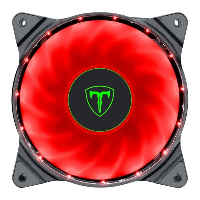 Kit 3 Cooler Pc Gamer 120mm T-DAGGER T-TGF300-R Led Vermelho