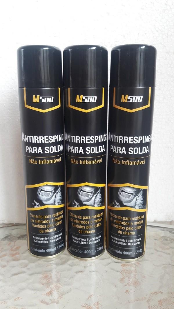 Kit 3 Spray Anti Respingo Para Solda 400ml/240g M500