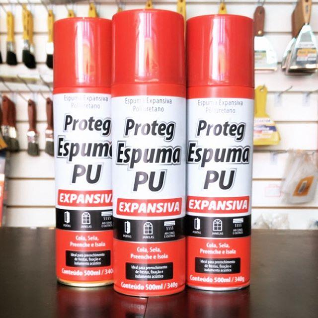 Kit 3 Spray Proteg Espuma Expansiva PU 500ml/340g  Baston