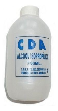 Kit 5 Álcool Isopropílico Isopropanol 99,8% CDA 500ml