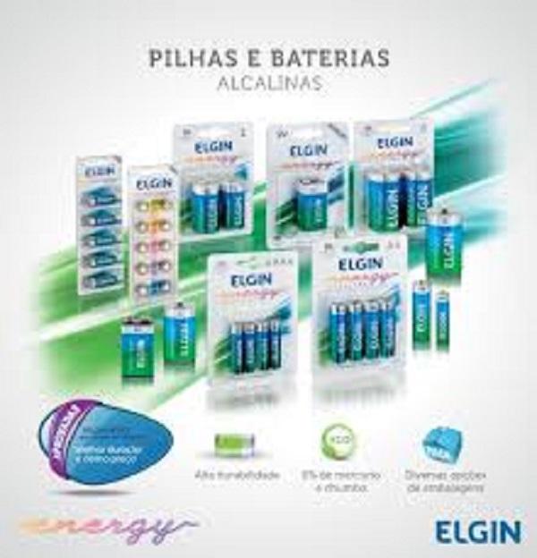 Kit 5 Bateria 9v Alcalina 6lr61 Elgin Inmetro - Blister