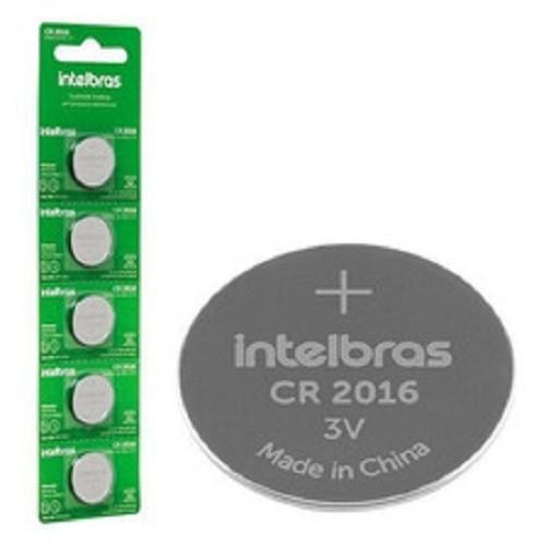 Kit 5 Cartelas Bateria Lithium 3v Cr2016 IntelBras (Blister C/5)