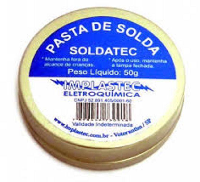 Kit 5 Pasta para Soldar Soldatec Pote 50G Implastec