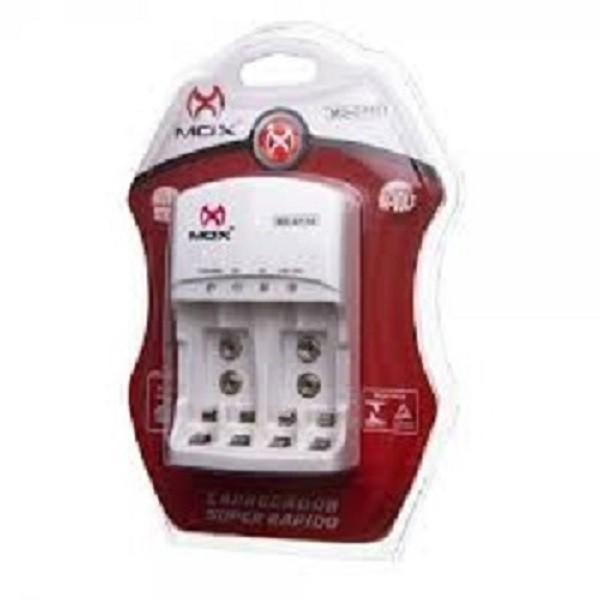 Kit Carregador Mox Cp50 + Bateria 9v Recarregável 240 Mah Mox