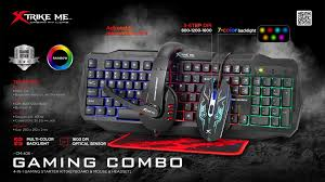 Kit Combo Gamer Xtrike-Me CM-406 (Teclado, Mouse Headset e Mousepad)
