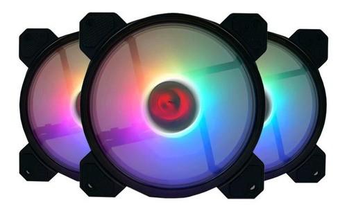 Kit Cooler Pc Gamer 120mm GC-F009 RGB C/Contr.Rem e Contr. Redragon