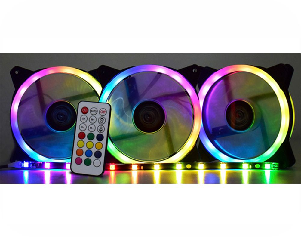 Kit Cooler Pc Gamer 120mm RGB Double C/Contr.Rem + Fita AF-S1225 K-Mex