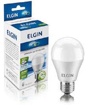 Lampada Led 6w Bulbo E27 BiVolt Elgin Branca 540LM - Inmetro