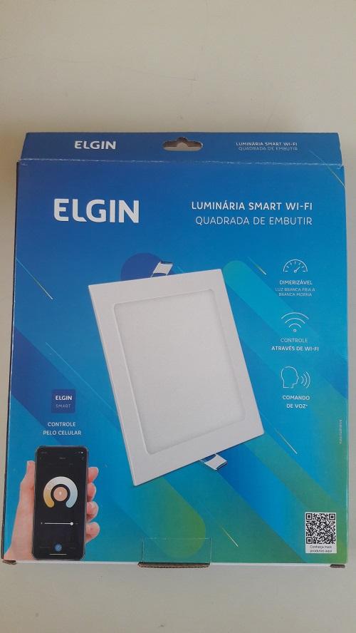 Luminária Led Quadrada Embutir 18w Smart WI-FI Elgin (Branca e Amarela)