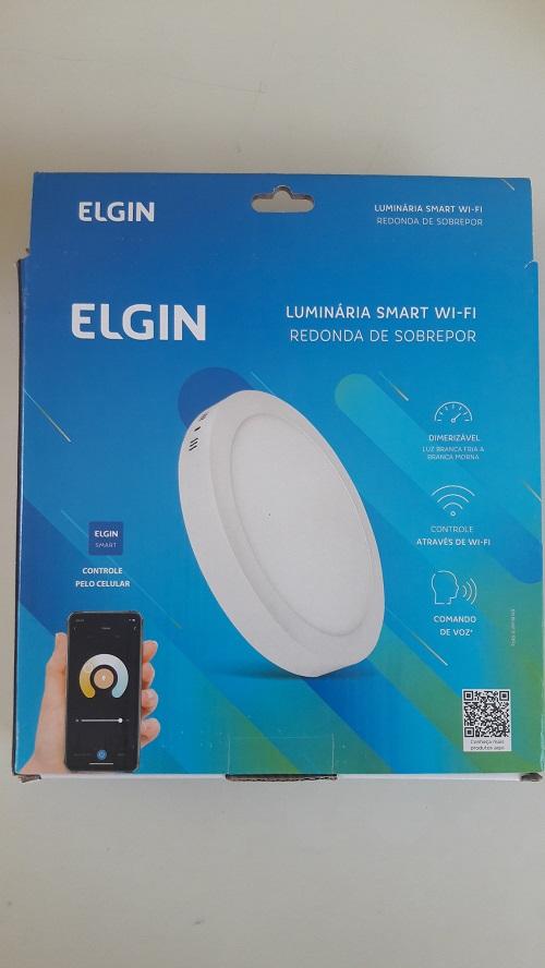 Luminária Led Redonda Sobrepor 18w Smart WI-FI Elgin (Branca e Amarela)