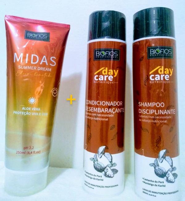 Midas Summer Dream Proteção UV 250ml + Kit Nutrição Capilar Nutrifique ( shampoo e condicionador ) BioFios