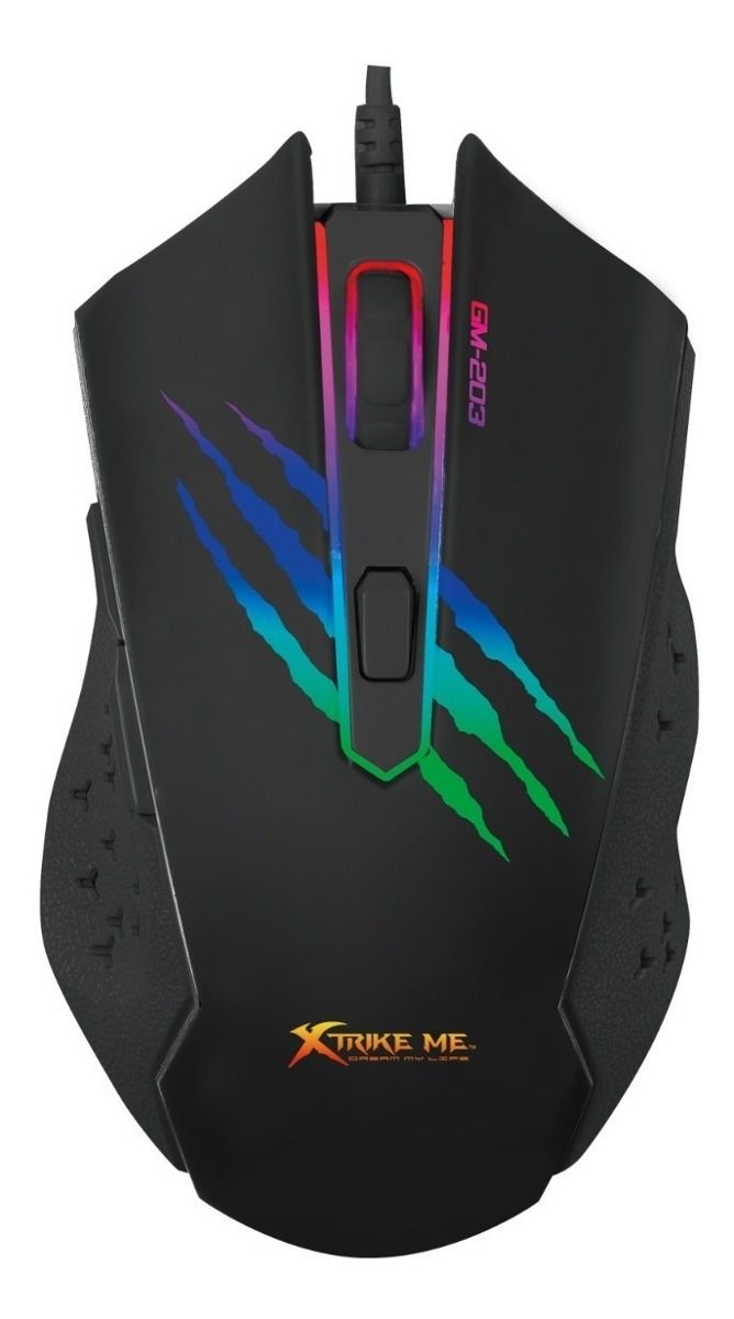 Mouse Gamer GM-203 2400DPI 6 Botões (5+Whell) Xtrike