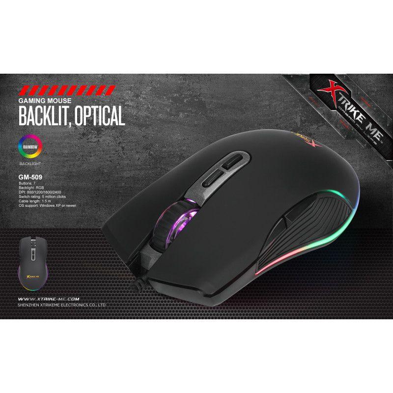 Mouse Gamer GM-509 2400DPI 4 Botões (Ilum. Led RGB) Xtrike
