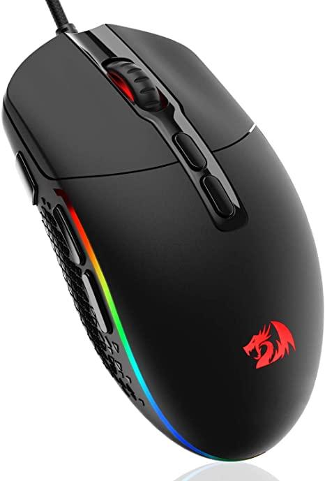 Mouse gamer Redragon Invader 10.000 Dpi 7 Botões Macro (RGB)