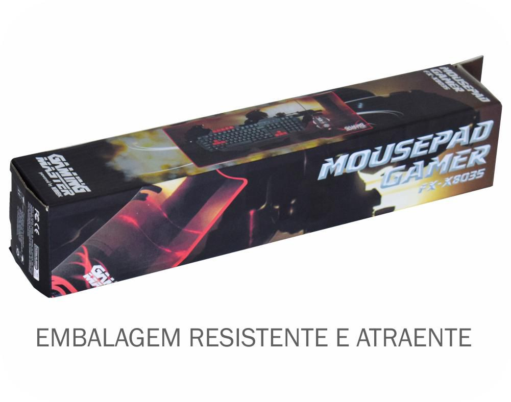 Mousepad Gamer Swat Fx-x8035 C/ Base Emborrachada K-mex