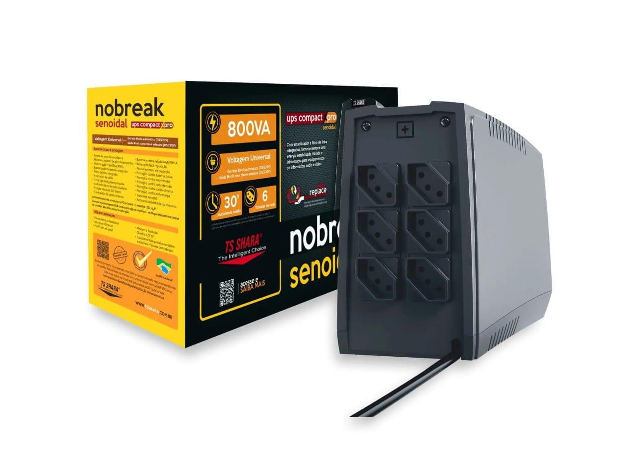 Nobreak 800va Senoidal Ts Shara 4447 1bs Ent E Saida 110v/220v