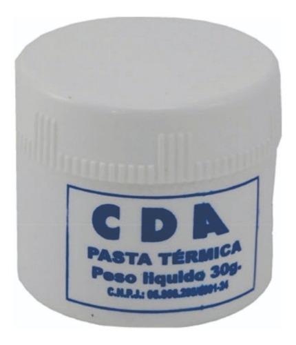 Pasta Térmica CDA Branca SP135 Pote 30G + Alc. Isop. 99,8% 500ml CDA