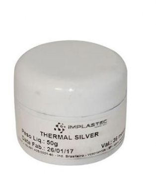 Pasta Térmica Thermal Silver Pote 50g Implastec