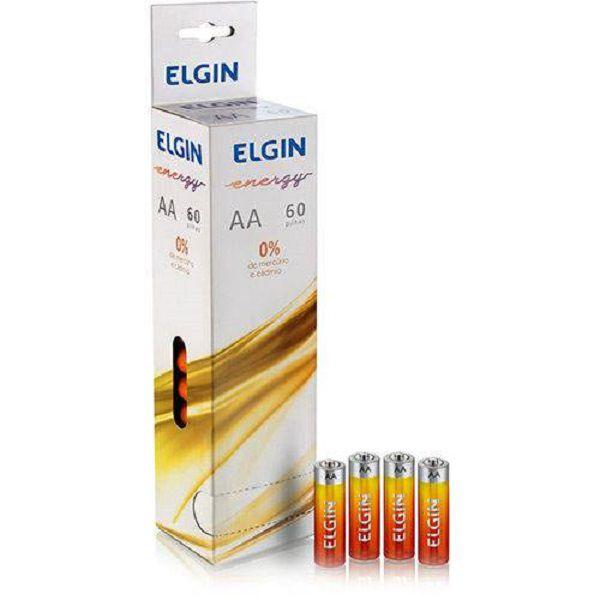 Pilha Aa Pequena Zinco Energy 1,5v Tubo C/ 60 Pilhas Elgin