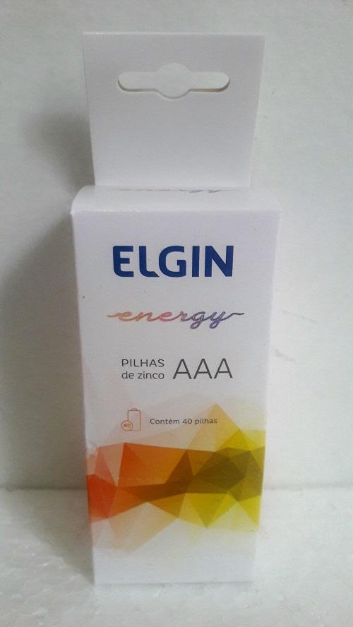 Pilha Aaa Palito Zinco Energy 1,5v Tubo C/ 40 Pilhas Elgin