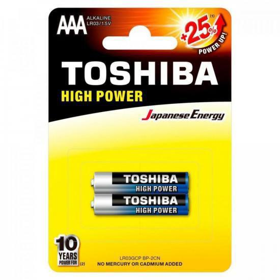 Pilha Alcalina AAA 1.5v LR03GCP Blister C/2 Toshiba