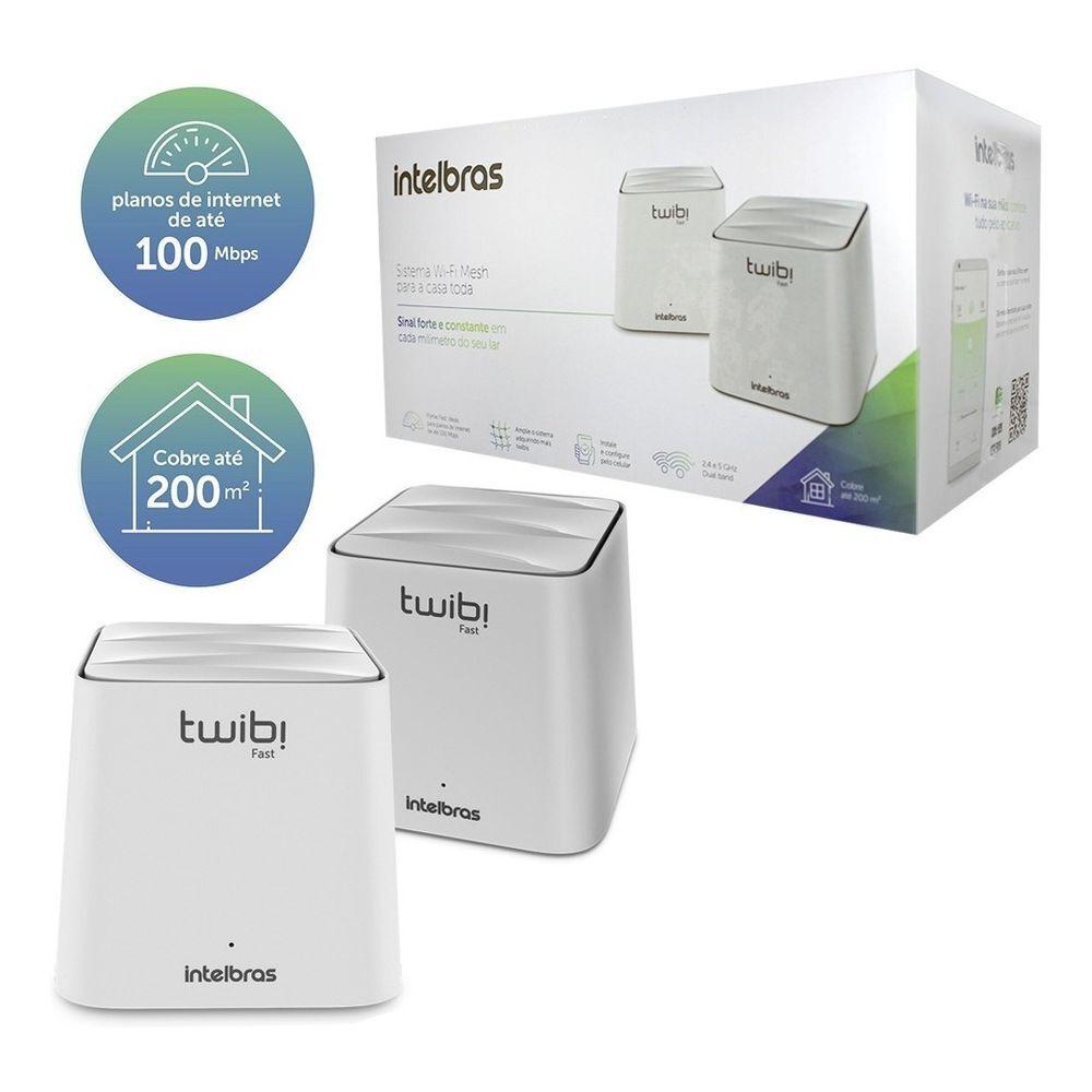 Kit 2 Roteador Wi-fi Mesh Intelbras Twibi Fast (Ac 1200)