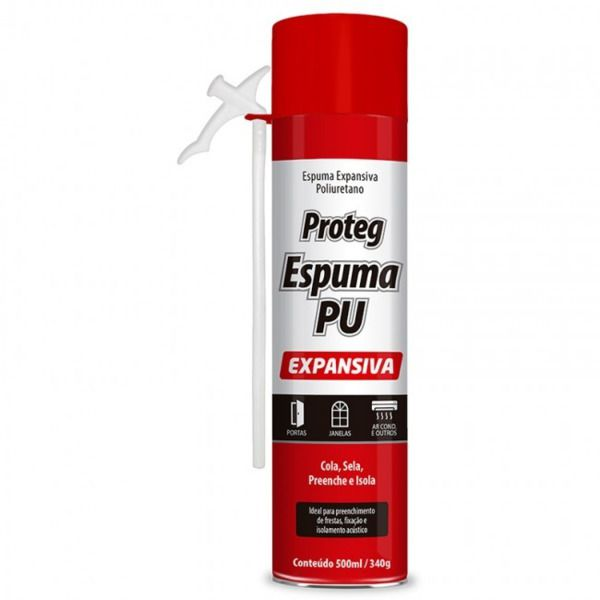 Spray Proteg Espuma Expansiva PU 500ml/340g  Baston