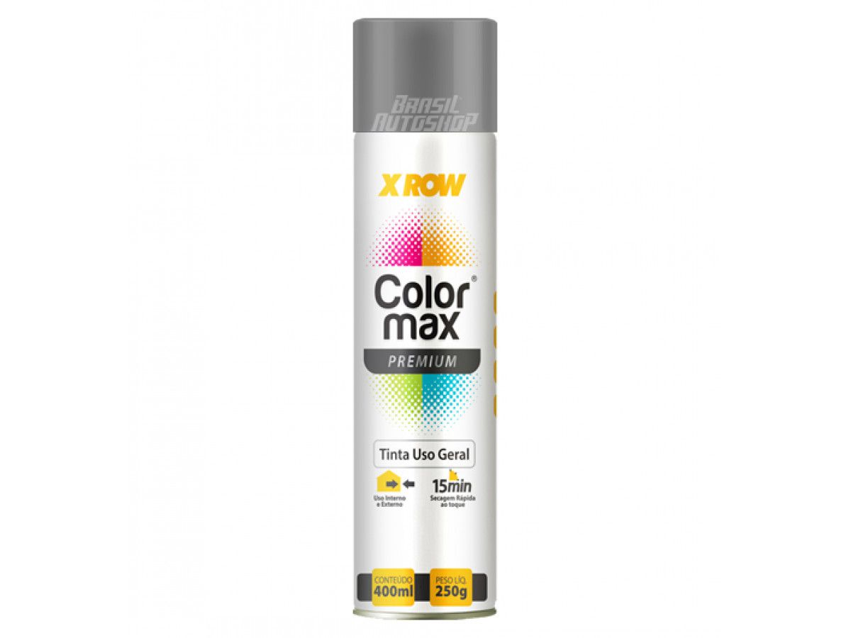 Spray Tinta uso Geral Color Max Premium Aluminio 400ml/250g X-Row