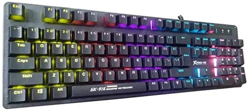 Teclado Gamer Mecanico GK-916 Xtrike Rainbow Switch Blue