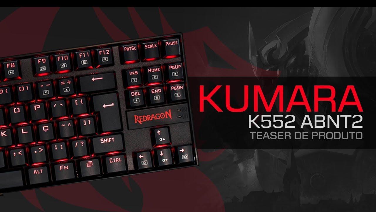 Teclado Gamer Mecanico Kumara K552 RGB Blue Abnt2 Redragon