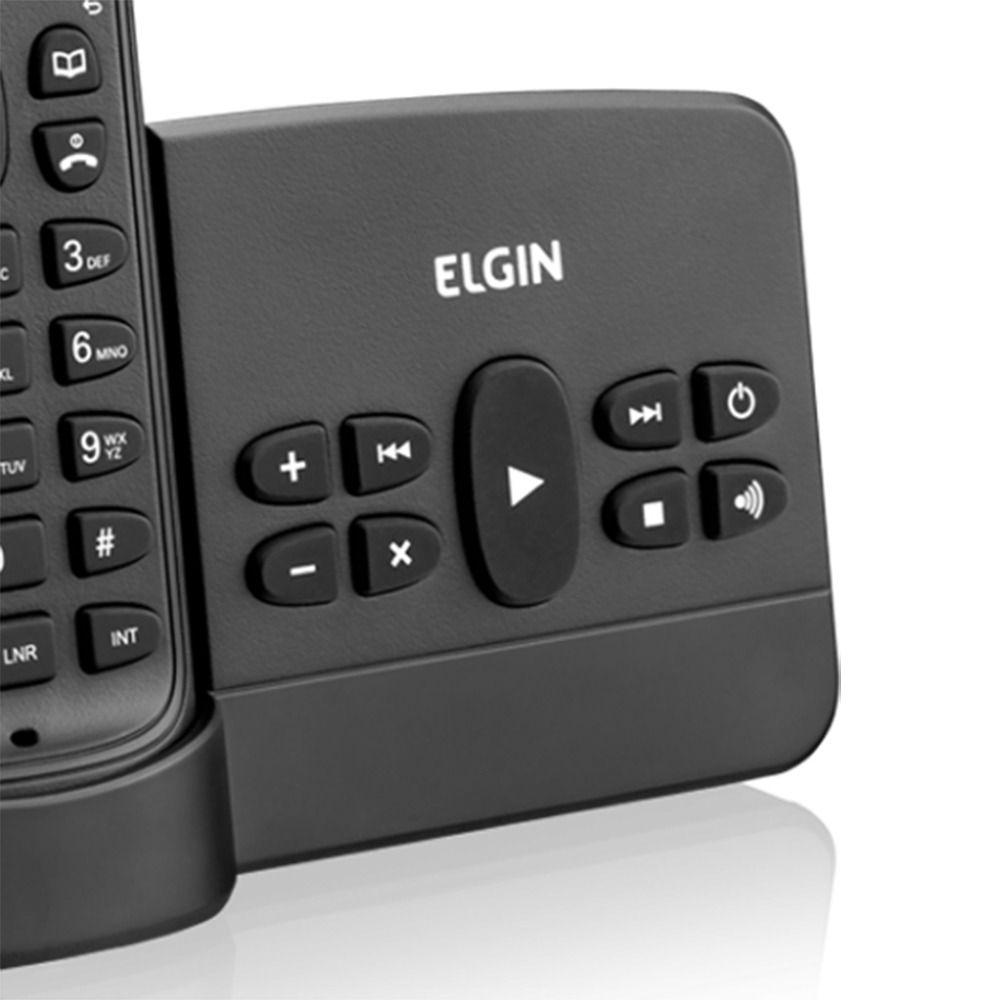 Telefone Sem Fio TSF800SE Elgin C/ID e Secretária Preto