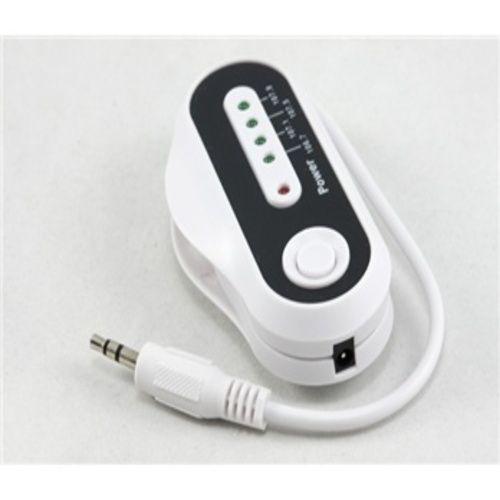 Transmissor FM Wireless Sem Fio Portatil (Branco)