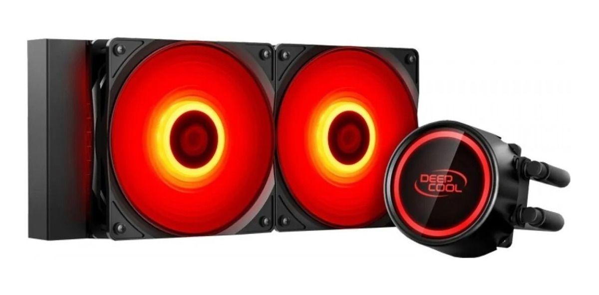 Water Cooler Deepcool Gammaxx L240t Red 240mm (Intel e Amd)
