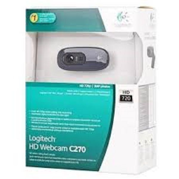 Webcam Logitech C270 3.0MP - Videochamadas em HD 720p