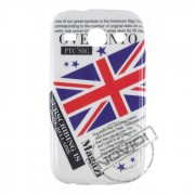 Capa Personalizada Jornal e Bandeira UK para Samsung Galaxy SIII Duos GT I8260