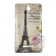 Capa Personalizada Cartão Postal Paris para o Sony Xperia E - Modelo 2