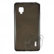 Kit Capa de TPU Premium + Película Transparente para LG Optimus L9 - Cor Grafite