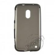 Kit Capa de TPU Premium + Película Transparente para Nokia Lumia 620 - Cor Grafite