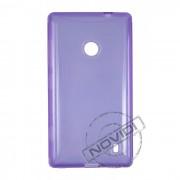 Kit Capa de TPU Premium + Película Pro Fosca para Nokia Lumia 520 - Cor Roxa