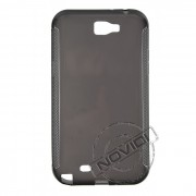 Kit Capa de TPU Premium + Película Transparente para Samsung Galaxy Note II N7100 - Cor Grafite